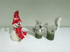 wool felt NEW fashion lovely christmas gift snowman spuirral reindeer 2015 christmas gift