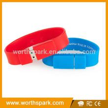 1gb 2gb 4gb 8GB 16GB silicone bracelet usb wristband usb flash memory stick
