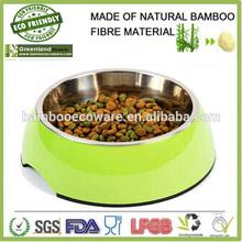 pet loved bamboo material FDA SGS CE certification pet feeder pet bowl