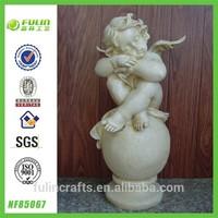 Sitting White Angel Figurines Resin Baby Angel Figurine