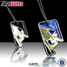 art and craft metal custom artificial stone dog tag