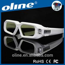 New Generation 3D DLP Link Shutter Active Glasses 1.5 Ounces 3D Ready (White)