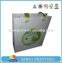 2015 Newes Eco-friendly laminated silk gift bags/kraft gift bag