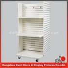 Movable floor standing gondola shelf with E1 standard MDF shelf for market shops