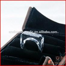 custom fashion ring_lucite ring_plexiglass ring