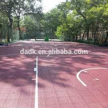 Outdoor basketball court flooring/surface /field
