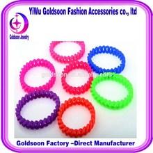 Factory direct sales promotional giveaways twist silicone bracelet adorn article