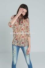 Designer fashionable women waist elastic blouse