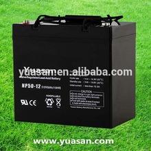 Long Life Yuasan 12V UPS Rechargeable Battery Backup AGM Sealed Lead Acid Battery -NP50-12(12V 50AH)