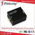 digital coaxial ótica rca de áudio analógico para conversor adaptador