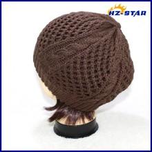 HZM-14103003 Patterns Factory russian cheaper football wholesale plain ochet aviator men's knit caps men knitted winter cap
