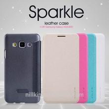 For Samsung Galaxy A3 A300 Nillkin Sparkle Series Leather Flip Cover for Samsung Galaxy A3 mobile phone case
