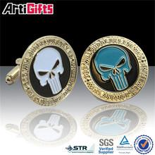 Promotional metal fashion mens gift enamel tie clip cufflinks gift