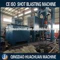 qh698 máquina de granallado de tubos de acero y placa de acero de la viga de acero de la superficie de limpieza