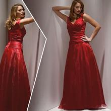 elegante rosso 2015 madre di abiti da sposa scollo a v piano di lunghezza abito da sposa taglia partito più