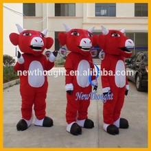 Advertising sport mascot costume bull