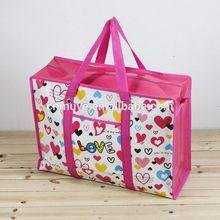 recycled lamination cartoon nonwoven zipper bags