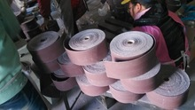 Aluminium oxide abrasive cloth belt roll by Grade J light cotton cloth