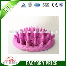 China manufacture plastic pet dog feeding bowl & slow feed dog bowl