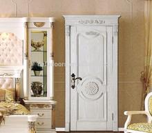 100% solid wooden white painting door for living door