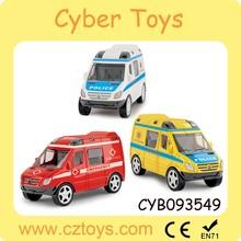 Wholesale mini alloy model car pull back diecast police car with EN71/7P/CD/HR4040/ASTM