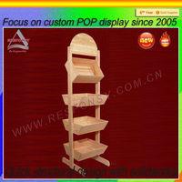 Wooden custom vegetable fruit wood display stand