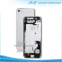 Fix for Apple iphone 5,assembly backcover with small parts for iphone 5 back frame with small parts for iphone 5