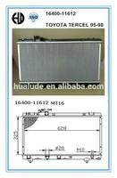 2014 hot sale high quality brazed welding aluminum auto radiator For toyota tercel