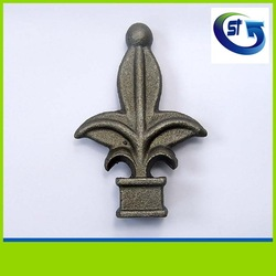 Wrought iron cast iron fencing finials