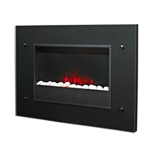 Over heating protected and flame adjustable wall mounted electric fireplace
