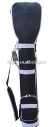 classic black and white pu gun golf bag