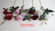 SJH011110 single stem silk roses artificial red roses mini silk roses