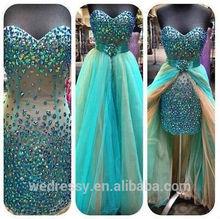 Chaozhou evening dress green short chiffon evening dress lace evening dress Prom dress,Prom Gown,Evening Dress