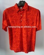 hemp polo t-shirt, short sleeve t-shirt, hemp clothes