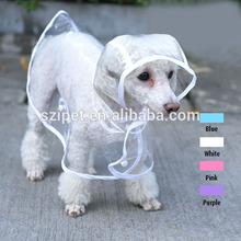 fashion Transparent raincoat pet clothing dog with hat IPET-PC09