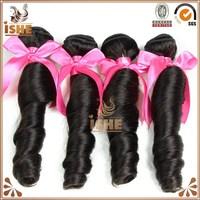 7A Top Grade Virgin Brazilian Spring Curl Remy Hair Weaving