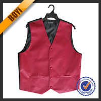 High Quality Solid Color Cheap Waistcoats Men