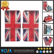 Classical Retro National Flag leather flip case for motorola for moto g2 with hot sale