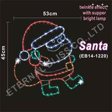 metal hanging santa claus decoration