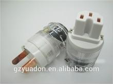 Audiocrast CC Alloy Series -126 OCC Gold Plated Hi-End US Male female AC power Plug