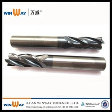four-flute tungsten milling cutter of carbide end mill
