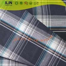 Big check print fabric yarn dyed check design shirts for men