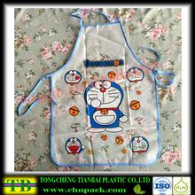Fashion! Cartoon pattern reusable apron for kids