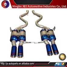 Inlet stainless steel exhaust resonator muffler universal titanium muffler