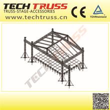 F100-RS25 Heavy Duty Rectangle Aluminium Metal Roof Truss Design For Big Concert