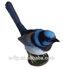 Personalizado de plástico modelo de aves, diferentes 3d parakeet de resina de pvc de aves de la figura, del pájaro del polyresin figura para la decoración del hogar