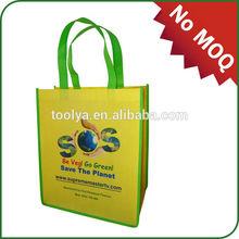 Wholesale ECO reusable colorful pp non woven shopping bag