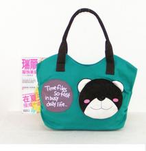 Korean trend women canvas cartoon handbag 2015 great new style girls handbag