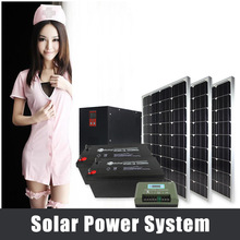2000w cheap solar panel system for home with pure sine wave inverter 220V