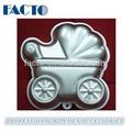 Microondas molde do bolo de alumínio com o bebê carrinho forma
